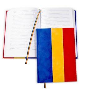 Agenda nedatata tricolor catifea A5